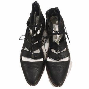 Freda Salvador Womans Black Gladiator Sandals